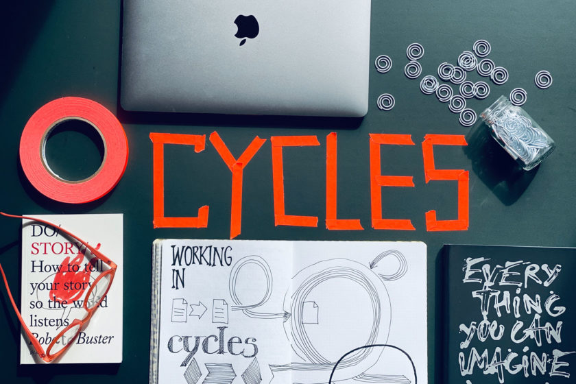 Meine Methode: Working in cycles
